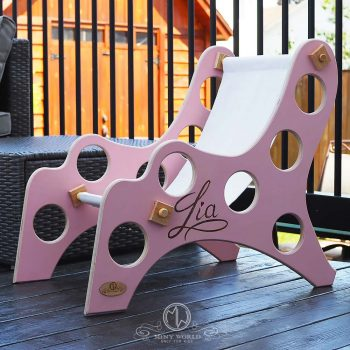 A wooden chair for kids
