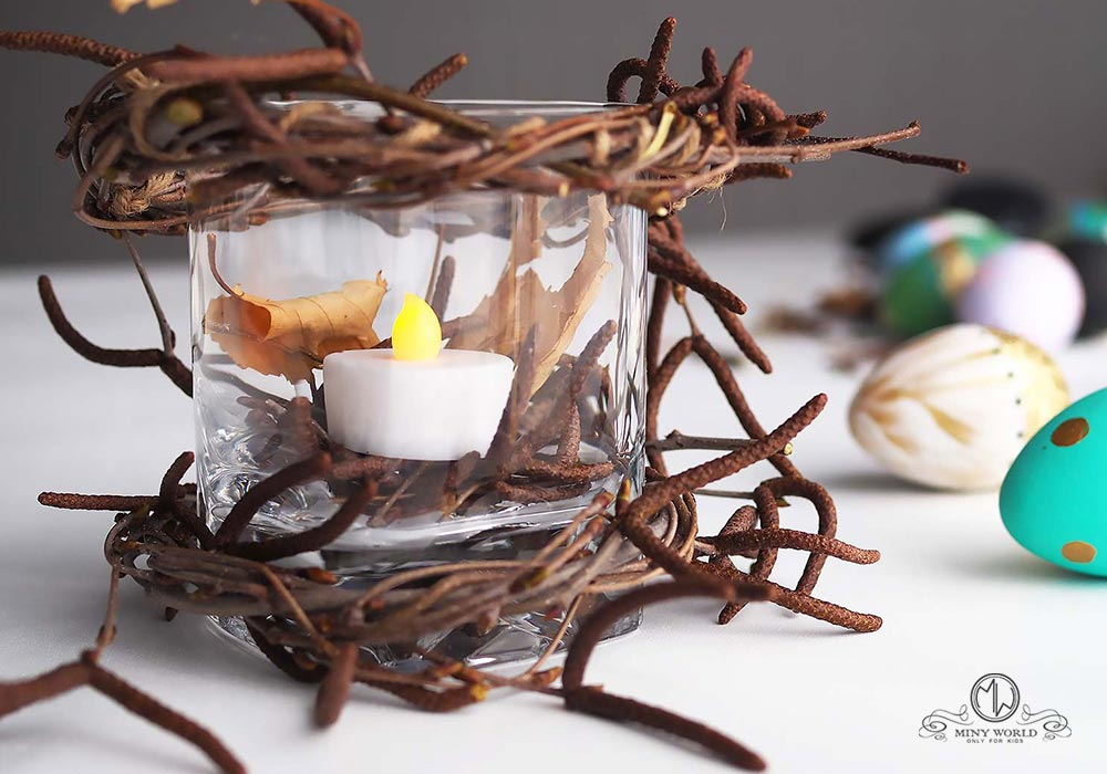 DIY candle for Easter