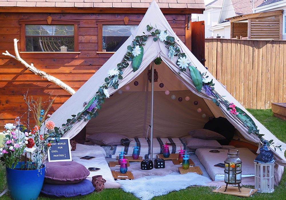 Bell tent – Outdoor party for kids