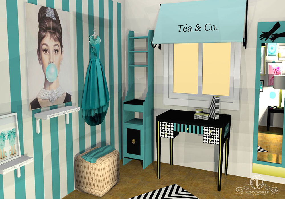 Audrey Hepburn, Breakfast at Tiffany's – girl bedroom inspiration